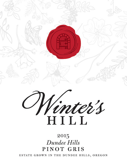 winters hill estate pinot gris 2015 label - Pinot Gris rules Oregon's white wine landscape