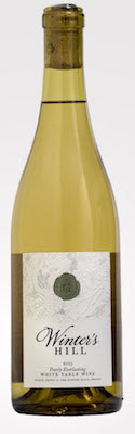 winters hill winery pearly everlasting white table wine 2015 bottle - Winter's Hill Winery 2015 Estate Pearly Everlasting White Table Wine, Dundee Hills, $25