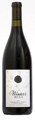 winters hill winery single block series block 10 estate pinot noir 2014 bottle - Winter's Hill Winery 2014 Block 10 Estate Single Block Series Pinot Noir, Dundee Hills, $49
