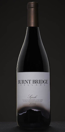 burnt bridge cellars coyote canyon vineyard syrah 2014 bottle - Syrah flourishes as Washington wine industry's secret weapon