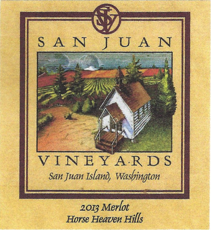 san juan vineyards 2013 merlot label - San Juan Vineyards 2013 Merlot, Horse Heaven Hills, $20