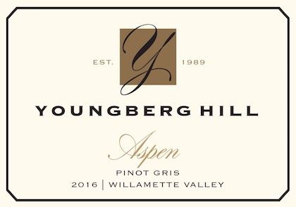 younberg hill aspen pinot gris 2016 label - Pinot Gris rules Oregon's white wine landscape