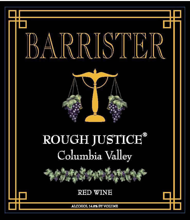 barrister winery nv rough justice label - Barrister Winery NV Rough Justice Red Wine, Columbia Valley, $23