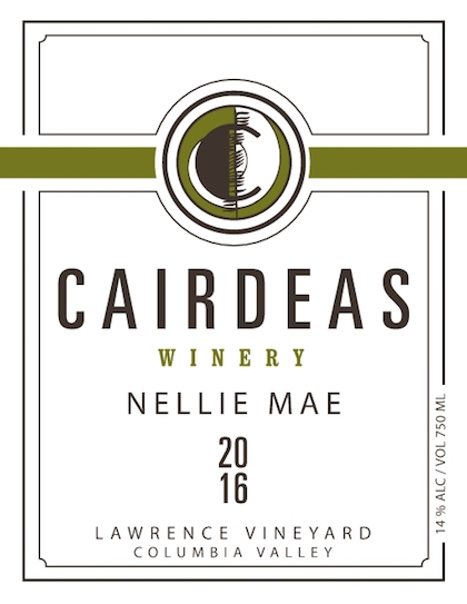 cairdeas winery lawrence vineyard nellie mae white wine 2016 label - Cairdeas Winery 2016 Lawrence Vineyard Nellie Mae White Wine, Columbia Valley, $24