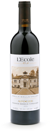 lecole no 41 pepper bridge vineyard apogee red wine 2014 bottle - L'Ecole No. 41 2014 Pepper Bridge Vineyard Apogee Red Wine, Walla Walla Valley, $55