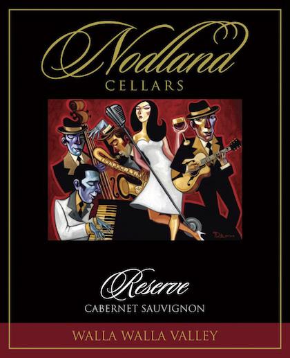 nodland cellars reserve cabernet sauvignon nv label - Walla Walla rising with reds