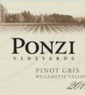 ponzi vineyards pinot gris 2016 label 120x134 - Ponzi Vineyards 2016 Pinot Gris, Willamette Valley, $19