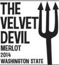 the velvet devil merlot 2014 label 120x134 - Charles Smith Wines 2014 The Velvet Devil Merlot, Washington, $13