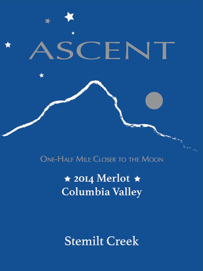 Stemilt Creek 2014 Ascent Merlot label