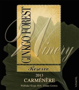 ginkgo foest carmenere 264x300 - Ginkgo Forest Winery 2013 Estate Reserve Carménère, Wahluke Slope, $38