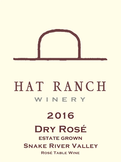 hat ranch winery estate dry rose 2016 label - Hat Ranch Winery 2016 Estate Dry Rosé, Snake River Valley, $16