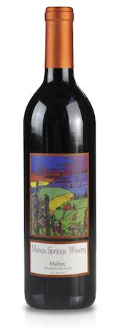 malaga springs winery nv bottle - Malaga Springs Winery 2015 Malbec, Columbia Valley, $24