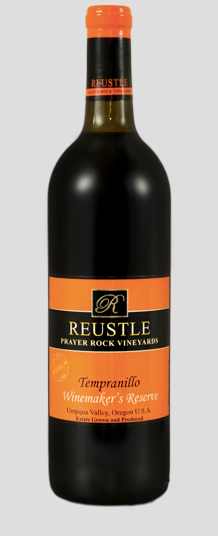 reustle prayer rock vineyards winemakers reserve tempranillo nv bottle - Tempranillo gaining in popularity across Northwest