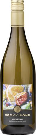 rocky pond winery clos chevalle vineyard chardonnay 2015 bottle - Rocky Pond Winery 2015 Clos CheValle Vineyard Chardonnay, Lake Chelan, $24