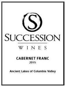 succession wines cab franc 227x300 - Succession Wines 2015 Familigia Vineyard Cabernet Franc, Ancient Lakes of Columbia Valley, $39