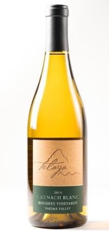 telaya wine co grenache blanc 2016 bottle - Telaya Wine Co. 2016 Grenache Blanc, Yakima Valley, $25