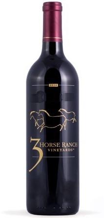 three horse ranch vineyards nv red bottle - 3 Horse Ranch Vineyards 2014 Single Vineyard Eagle Foothills District Merlot, Snake River Valley $40