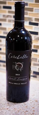 cerebella cabernet sauvignon 2014 bottle - Cerebella Wine 2014 Cabernet Sauvignon, Walla Walla Valley, $30