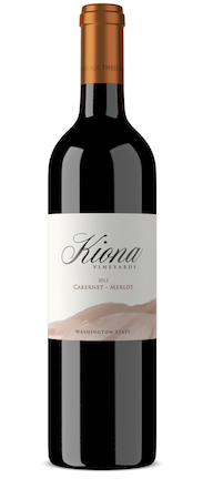 kiona vineyards winery cabernet merlot 2013 bottle - Kiona Vineyards and Winery 2013 Cabernet-Merlot, Washington, $15