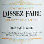 Laissez Faire 2016 Red Table Wine, Snake River Valley, $16