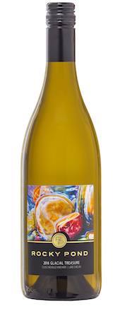 rocky pond winery clos chevalle vineyard glacial treasure 2016 bottle - Rocky Pond Winery 2016 Clos CheValle Vineyard Glacial Treasure White Wine, Lake Chelan, $17