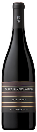 three rivers winery syrah 2014 bottle - Three Rivers Winery 2014 Syrah, Walla Walla Valley, $39