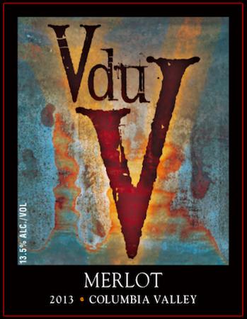 v du v wines merlot 2013 label - V du V Wines 2013 Merlot, Columbia Valley, $24