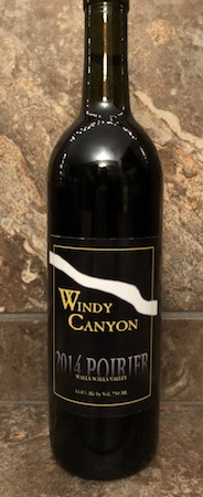windy canyon winery 2014 poirier red wine bottle - Windy Canyon Winery 2014 Poirier Red Wine, Walla Walla Valley $40