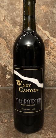 windy canyon winery 2014 poirier red wine bottle - Windy Canyon Winery 2014 Poirier Red Wine, Walla Walla Valley $40