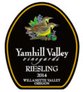 yamhill valley vineyards riesling 2014 label 120x134 - Yamhill Valley Vineyards 2014 Estate Riesling, McMinnville, $18