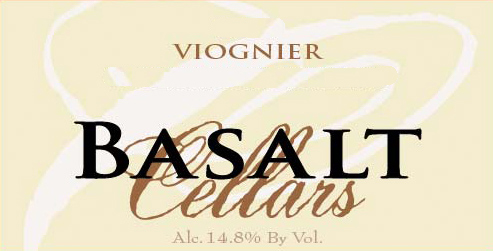 basalt cellars viognier nv label - Basalt Cellars 2016 Viognier, Walla Walla Valley, $18