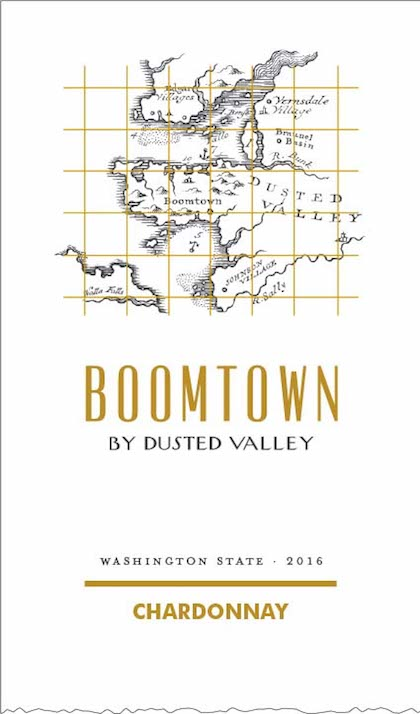 boomtown by dusted valley chardonnay 2016 label - Boomtown by Dusted Valley 2016 Chardonnay, Washington, $19
