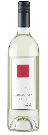 cedergreen cellars sauvignon blanc 2016 bottle - Cedergreen Cellars 2016 Sauvignon Blanc, Columbia Valley, $17
