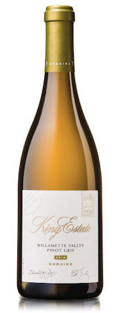king estate winery domaine pinot gris 2016 bottle - King Estate Winery 2016 Domaine Pinot Gris, Willamette Valley $29