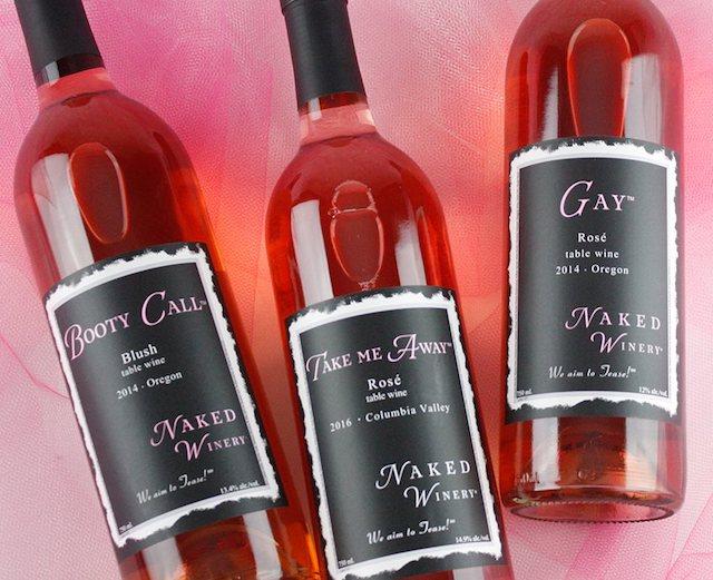naked winery pink wines photo courtesy naked winery - Naked Winery employees buy Oregon company