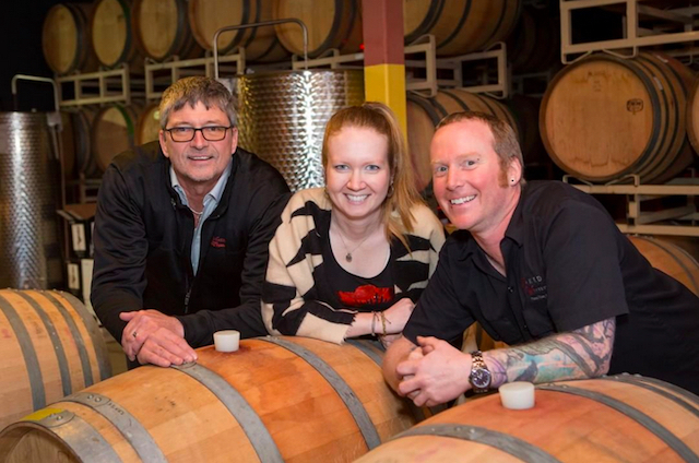 naked winery team peter steinfeld alaina weller tracy thomsen - Naked Winery employees buy Oregon company