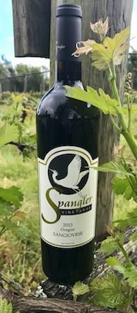spangler vineyards sangiovese 2013 bottle - Spangler Vineyards 2013 Sangiovese, Oregon, $28