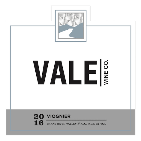 vale wine company viognier 2016 label - Vale Wine Co. 2016 Viognier, Snake River Valley, $18