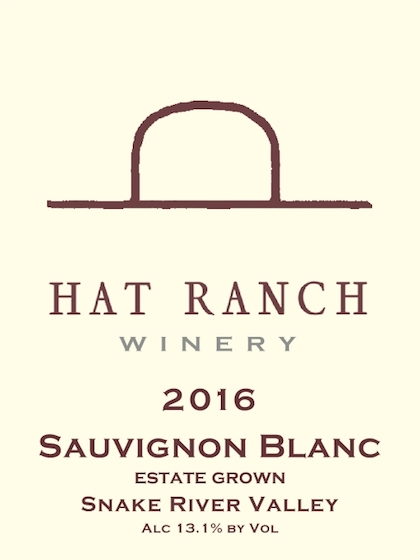 hat ranch winery estate sauvignon blanc 2017 label - Hat Ranch Winery 2016 Estate Sauvignon Blanc, Snake River Valley, $17