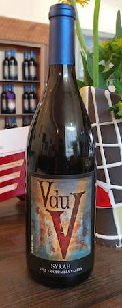 v du v wines syrah 2012 bottle - V du V Wines 2012 Syrah, Columbia Valley, $22