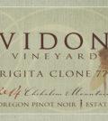 vidon vineyard estate brigita clone 777 pinot noir 2014 label 120x134 - Vidon Vineyard 2014 Estate Brigita Clone 777 Pinot Noir, Chehalem Mountains, $50