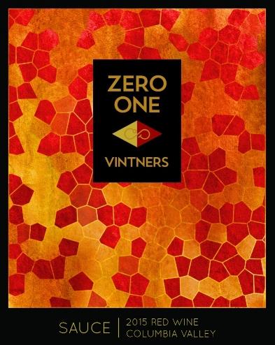 zero one vintners sauce red wine 2015 label 1 - Zero One Vintners 2015 Sauce Red Wine, Columbia Valley, $15