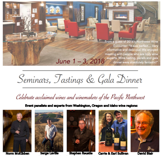 2018 northwest wine encounter poster - Norm McKibben of Pepper Bridge headlines Northwest Wine Encounter