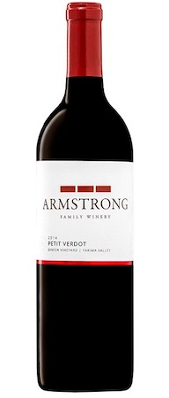 armstrong family winery dineen vineyard petit verdot 2014 bottle - Armstrong Family Winery 2014 Dineen Vineyard Petit Verdot, Yakima Valley, $38