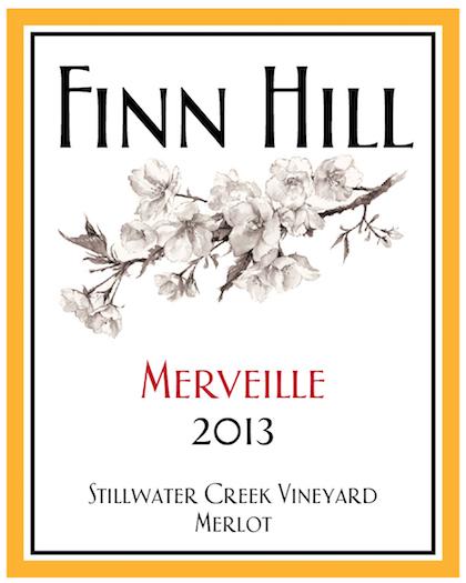 Finn Hill Winery 2013 Stillwater Creek Vineyard Merveille Merlot label