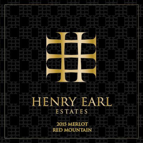Henry Earl Estates 2015 Merlot label