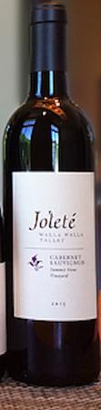 jolete summit view vineyard cabernet sauvignon 2015 bottle - Joleté 2015 Cabernet Sauvignon, Walla Walla Valley, $35