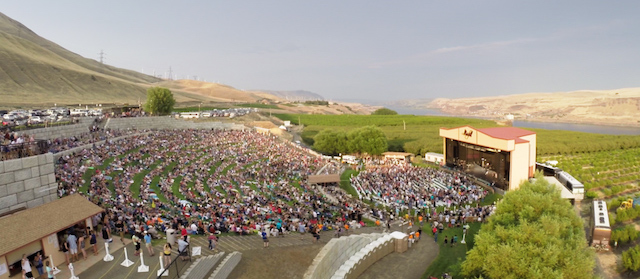 maryhill winery amphitheater aerial - Maryhill Winery preps for final concert at its amphitheater