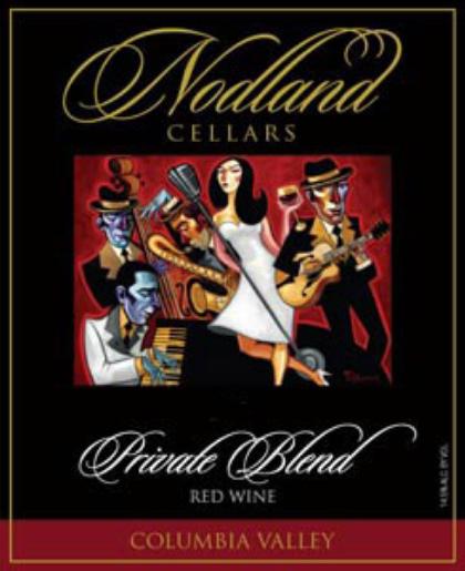 nodland cellars private blend red wine nv label - Nodland Cellars 2013 Private Blend Red Wine, Walla Walla Valley, $32