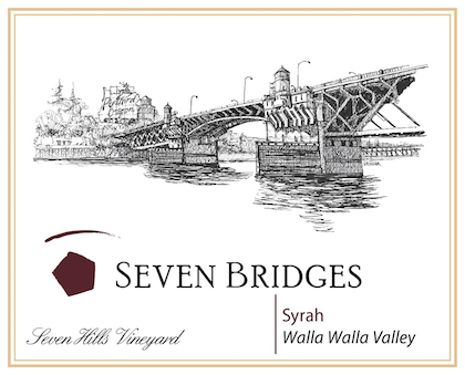 seven bridges winery seven hills vineyard syrah nv label - Seven Bridges Winery 2013 Seven Hills Vineyard Syrah, Walla Walla Valley, $42